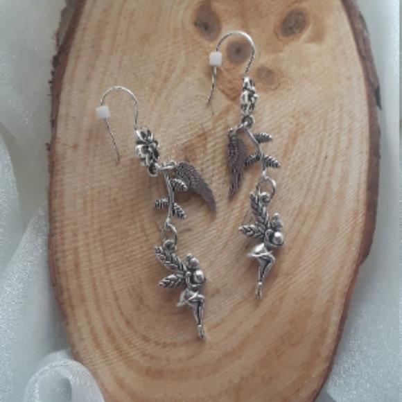 Fairy Tale Jewelry Jewelry - Fairies Sprigs and Angel Wings - dangle earrings